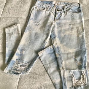 Current elliot distressed jeans